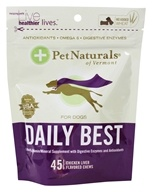 Pet Naturals of Vermont - Daily Best for Dogs Soft Chews Chicken Liver Flavored - 45 Chewables