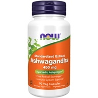 NOW Foods - Ashwagandha 4.5 Pct. Extract 450 mg. - 90 Vegetarian Capsules