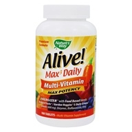Nature's Way - Alive Multi-Vitamin Whole Food Energizer Max Potency - 180 Tablets