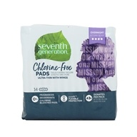 Seventh Generation - Chlorine Free Ultra-thin Pads with Wings Overnight 14 pack