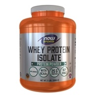 NOW Foods - Whey Protein Isolate Unflavored - 5 lbs.