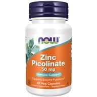 NOW Foods - Zinc Picolinate 50 mg. - 60 Capsules