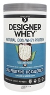 Designer - Designer Whey Natural 100% Whey-Based Protein Purely Unflavored - 2 lbs.