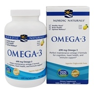 Nordic Naturals - Omega-3 Purified Fish Oil Lemon 1000 mg. - 180 Softgels