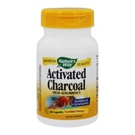 Nature's Way - Activated Charcoal High Adsorbency Certified Potency - 100 Capsules