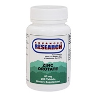 Advanced Research - Zinc Orotate 9.5 mg. - 200 Tablets
