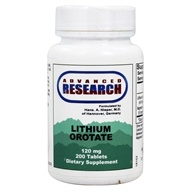 Advanced Research - Lithium Orotate 120 mg. - 200 Tablets