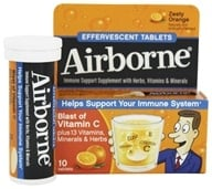 Airborne - Effervescent Health Formula Zesty Orange - 10 Tablets