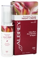 Aubrey Organics - Revitalizing Therapy Night Creme with Alpha Lipoic - 1 oz. Formerly Rosa Mosqueta Night Cream