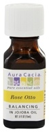 Aura Cacia - Precious Essentials Balancing Rose Otto in Jojoba - 0.5 Oz.