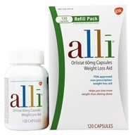 Alli - Orlistat Weight Loss Aid Refill Pack 60 mg. - 120 Capsules