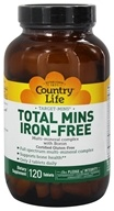Country Life - Target-Mins Total Mins Multi-Mineral Complex with Boron Iron-Free - 120 Tablets