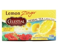 Celestial Seasonings - Lemon Zinger Herb Tea Caffeine Free - 20 Tea Bags