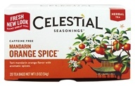 Celestial Seasonings - Mandarin Orange Spice Herb Tea Caffeine Free - 20 Tea Bags