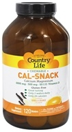 Country Life - Cal-Snack Chewable Calcium with Magnesium Vanilla/Orange Flavor - 120 Wafers