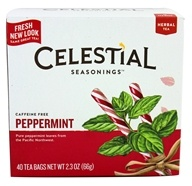 Celestial Seasonings - Peppermint Herb Tea Caffeine Free - 40 Tea Bags
