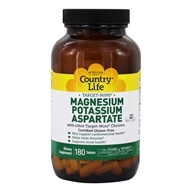 Country Life - Target-Mins Magnesium Potassium Aspartate - 180 Vegetarian Tablets