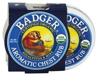 Badger - Aromatic Chest Rub Eucalyptus & Mint - 0.75 oz.