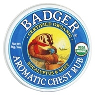 Badger - Aromatic Chest Rub Eucalyptus & Mint - 2 oz.