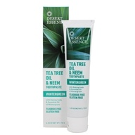 Desert Essence - Toothpaste Natural Tea Tree Oil & Neem With Baking Soda Wintergreen - 6.25 oz. LUCKY PRICE