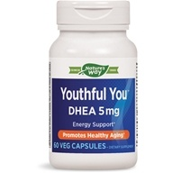 Enzymatic Therapy - Youthful You DHEA 5 mg. - 60 Vegetarian Capsules