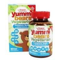 Hero Nutritionals Products - Yummi Bears Children's Vegetarian Complete Multi-Vitamin - 90 Sour Gummies