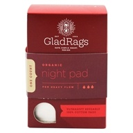 Glad Rags - Organic Cotton Undyed Night Reusable Pads - 1 Pack(s)