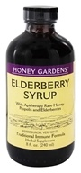 Honey Gardens Apiaries - Elderberry Syrup Extract with Propolis - 8 oz.