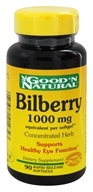 Good 'N Natural - Bilberry 1000 mg. - 90 Softgels