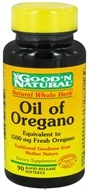 Good 'N Natural - Oil of Oregano 1500 mg. - 90 Softgels