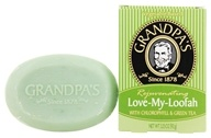 Grandpa's Soap Co. - Rejuvenating Love My Loofah Soap with Chlorophyll & Green Tea - 3.25 oz.