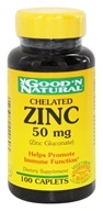 Good 'N Natural - Chelated Zinc (Zinc Gluconate) 50 mg. - 100 Caplets Formerly Tablets
