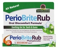 Nature's Answer - PerioRub Soothing Gel For Natural Relief From Tooth & Gum Discomfort Cool Mint - 0.5 oz.
