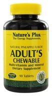 Nature's Plus - Adult's Chewable Multi-Vitamin & Mineral Natural Pineapple - 90 Chewable Tablets