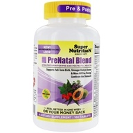 Super Nutrition - Prenatal Blend Multi-Vitamin/Mineral - 180 Vegetarian Tablets
