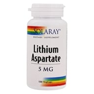 Solaray - Lithium Aspartate 5 mg. - 100 Capsules