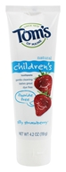 Tom's of Maine - Natural Toothpaste Children's Fluoride-Free Silly Strawberry - 4.2 oz.