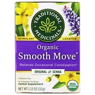 Traditional Medicinals - Organic Smooth Move Tea - Herbal Stimulant Laxative - 16 Tea Bags