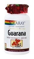 Solaray - Guaranteed Potency Guarana Seed Extract 200 mg. - 60 Vegetarian Capsules