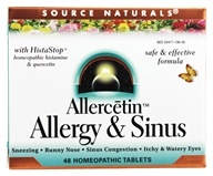 Source Naturals - Allercetin Allergy & Sinus With HistaStop - 48 Tablets