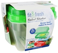 Fit & Fresh - Salad Shaker with Removable Ice Pack