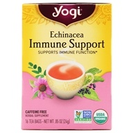 Yogi Tea - Echinacea Immune Support Tea with Organic Mullein Caffeine Free - 16 Tea Bags