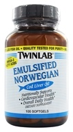 Twinlab - Cod Liver Oil Emulsified - 100 Softgels