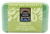 One With Nature - Dead Sea Mineral Bar Soap Moisturizing Olive Oil - 7 oz.
