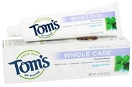 Tom's of Maine - Natural Toothpaste Whole Care With Fluoride Peppermint - 4.7 oz.