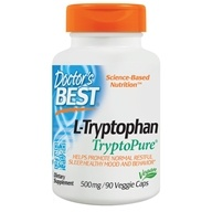 Doctor's Best - Best L-Tryptophan featuring TryptoPure 500 mg. - 90 Vegetarian Capsules /LUCKY PRICE