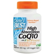 Doctor's Best - High Absorption CoQ10 100 mg. - 120 Vegetarian Capsules