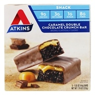Atkins Nutritionals Inc. - Advantage Snack Bar Caramel Double Chocolate Crunch - 5 Bars