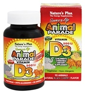 Nature's Plus - Source Of Life Animal Parade Vitamin D3 Natural Black Cherry 500 IU - 90 Chewables