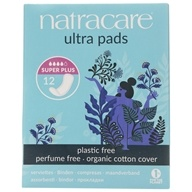 Natracare - Organic Cotton Natural Feminine Ultra Pads Super Plus - 12 Pad(s)